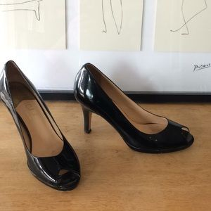 Cole Haan toe peep heels with Nike Air